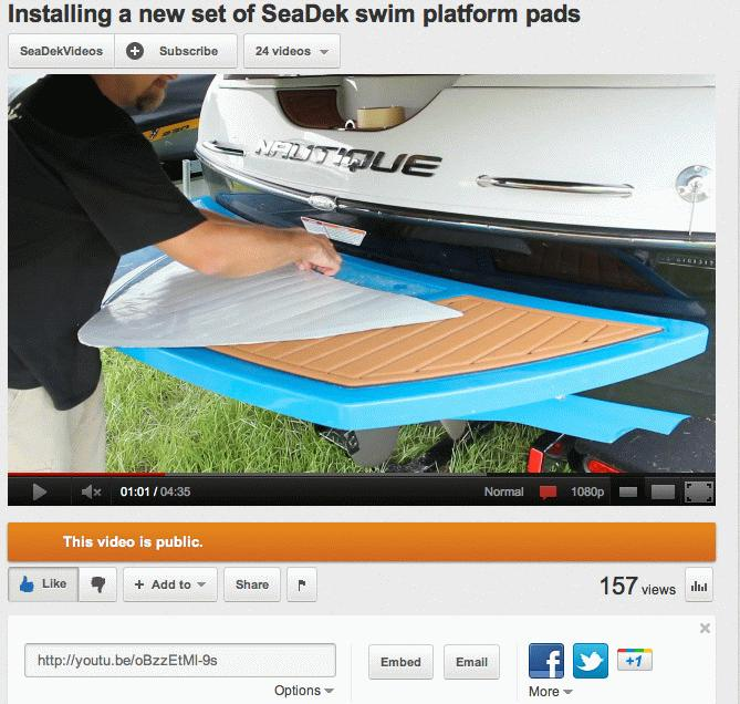 Installing a new set of SeaDek swim 